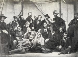 Групповой снимок русских художников. Рим. 1845. Фотограф С.Л.Левицкий