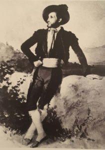 Штернберг. Айвазовский в испанском костюме. 1845. Акварель. Музей Айвазовского в Феодосии