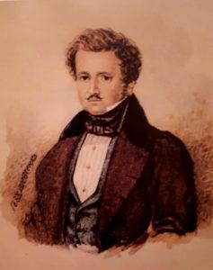 Шевченко. Портрет П.В.Энгельгарта. 1833. Акварель