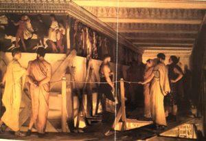 Альма-Тадема. Фидий и Фриз Парфенона, Афины. 1868. Бирмингемский музей и Галерея искусств. Англия