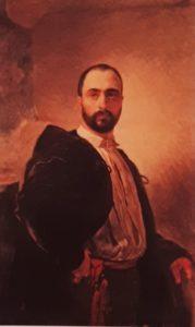 Брюллов. Портрет Анджело Титтони. 1851. Частное собрание. Рим