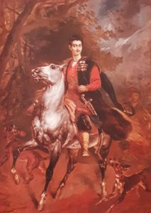 Карл Брюллов. Керубино Корньенти. Портрет А.Н.Демидова на коне. 1852. Голову дорисовал Корньенти, получился пупсик, а конь явно брюлловский. Спасибо Корньенти, что зарисовал Брюллова на смертном одре