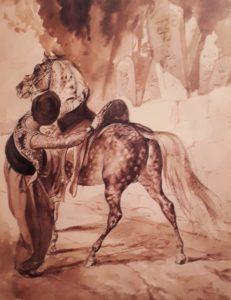 Брюллов. Турок, садящийся на коня. 1935. Третьяковская галерея