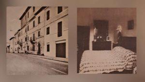 Манциана. Во втором доме жил и умер Брюллов (фото слева). Справа – комната, в которой жил и умер Брюллов