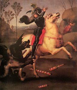 Рафаэль. Св. Георгий, побеждающий дракона