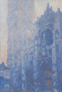 Моне. Руанский собор, портал и башня, эффект утра; белая гармония