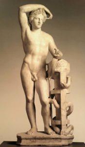 Аполлон, радость для смертных. 140-150 годы н.э. с оригинала 4 века до н.э.