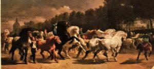 Роза Бонёр. Конная ярмарка. 1852-1855. Сама королева Виктория ходила смотреть эту картину