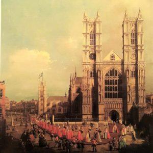 Каналетто. Вестминстерское аббатство с процессией рыцарей Ордена Бани. 1749