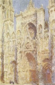 Моне. Руанский собор. Восточный фасад в солнце