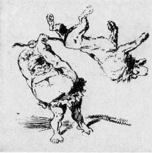 Гюстав Доре. Рисунок из альбома «Подвиги Геркулеса» 1847