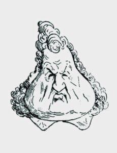 Король – груша (карикатура на короля Франции Луи Филиппа в 1830-ых), которая печаталась в журнале «Le Charivari»