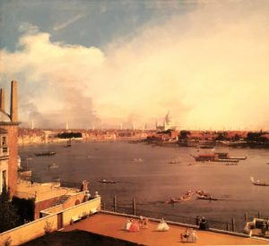Каналетто. London: the Thames and Citi of London from Richmond House. 1747