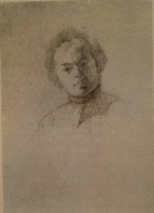 К.П.Брюллов. Портрет Я.Ф.Яненко. Эскиз. 1841. Карандаш
