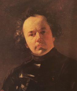 Брюллов. Портрет Я.Ф.Яненко в латах. 1841. Третьяковская галерея