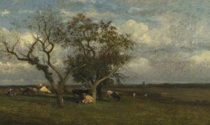 Дюпре. Пейзаж с коровами