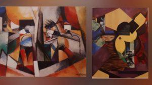 Слева: плохой кубизма (картина Глеза, 1914). Справа: Хороший кубизм (картина Гриса, 1913)