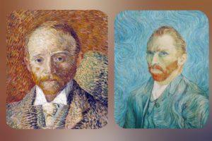 Ван Гог. Слева: портрет А.Рида, справа: автопортрет