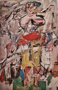 Виллем де Кунинг. Женщина и велосипед. 1952-1953. Абстрактный экспрессионизм