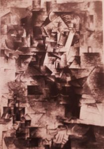 Пикассо. Портрет Канвейлера. 1910.