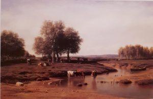 М.К.Клодт. Стадо у реки в полдень. 1869