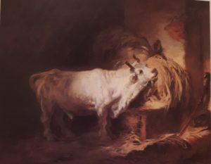 Фрагонар (годы жизни 1732-1806). Белый бык. Картина передана в Лувр в 1976