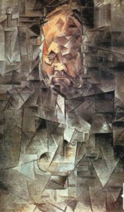 Пикассо. Папаша Воллар. 1910. Кубизм. Как написал Филип Хук, «портрет, непостижимый для модели»