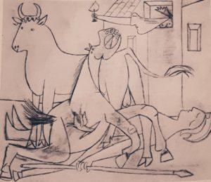 Пикассо. Рисунок для Герники. 1937