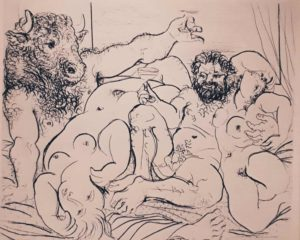 Пикассо. Сюита Воллара № 85. 1933