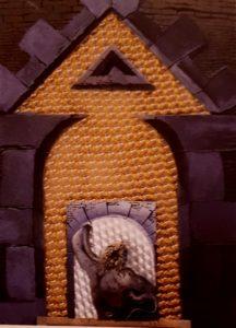 Дали. Лаокоон, терзаемый мухами. 1965. Масло, панель, коллаж. Фонд Гала-Сальвадор Дали, Фигерас