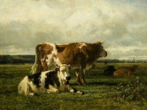 Тройон. Коровы в поле