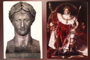 Слева: Бартолини. Наполеон I. 1805. Лувр. Париж. Справа. Энгр. Наполеон I. 1806. Музей армии. Дом Инвалидов. Париж