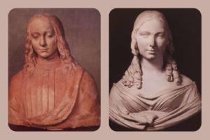 Справа: Бартолини. Тереза Гамба Гучиолли. Слева: Мастерская Верроккьо. Юноша-святой. Вторая половина XV века