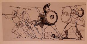Пиролли по рисунку Флаксмена. Битва за тело Патрокла
