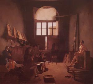 Л.М.Кошеро. Интерьер мастерской Давида. Картина приобретена Лувром в Салоне в 1814