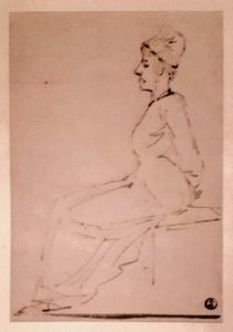 Давид. Королева Мария Антуанетта по дороге на эшафот. Рисунок пером. Лувр