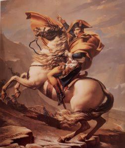 Давид. Генерал Бонапарт на перевале Сен-Бернар. 1801. Лувр. Париж. Еще не император, ноги на барабан во время сражений еще не клал. Но красота-то какая!