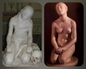 Слева. Канова. Мария Магдалина 1809. Справа. Бартолини. Вера в Бога