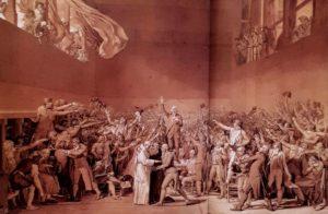 Давид. Клятва в зале для игры в мяч. 1791. Неоконченная картина.