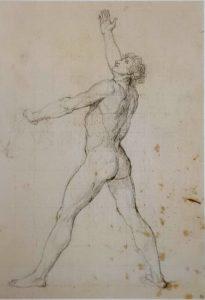 Давид. Мирабо. Эскиз для картины «Клятва в зале для игры в мяч». 1791