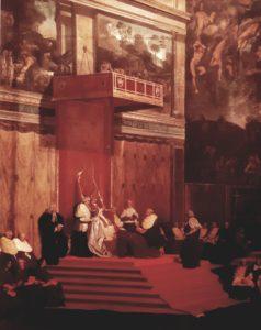 Энгр. Папа Пий VII в Сикстинской капелле. Этюд. 1820