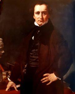 Энгр. Портрет Лоренцо Бартолини. 1820. Картина подарена Лувру в 1942 году