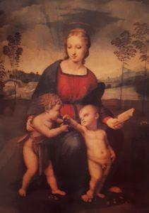 Рафаэль. Мадонна с щегленком. 1506. Уффици (рядом с Питти). Флоренция
