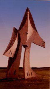 Пикассо. Женщина с распростертыми руками. 1961. Железо и металл, более 5 метров в высоту. Музей изящных искусств. Хьюстон. США. Кубизм