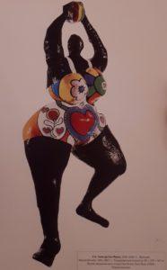 Ники де Сен-Фаль (1930-2002, Франция). Черная Венера. 1965-1967. Раскрашенный полиэстер. 89х279х60. Музей американского искусства Уитни. Нью-Йорк. США. Новый реализм