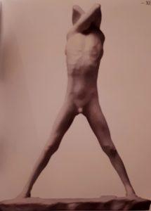 Жорж Мине (1866-1941, Бельгия). Юноша. 1891. Мрамор. 43 см. Музей Поля Гетти. Лос-Анжелес. США. Символизм