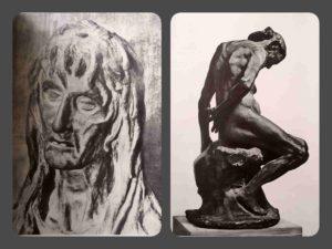Вверху слева. Донателло. Мария Магдалина. 1454-1457 Вверху справа. Роден. Та, которая была прекрасной Ольмьер. 1885. Музей Родена, Париж