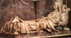 Бартолини. Монумент Софии Чарторыйской Замойской. 1837-1844. Мрамор. Собор Санта-Кроче. Флоренция. Фрагмент
