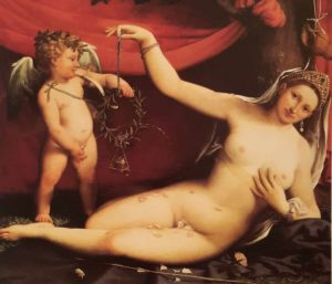 Лоренцо Лотто. Венера и Купидон (он же Амур). 1513. Музей Метрополитен. Нью-Йорк