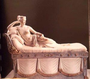 Канова. Паолина Боргезе в образе Венеры победительницы. Мрамор. 1808. Галерея Боргезе